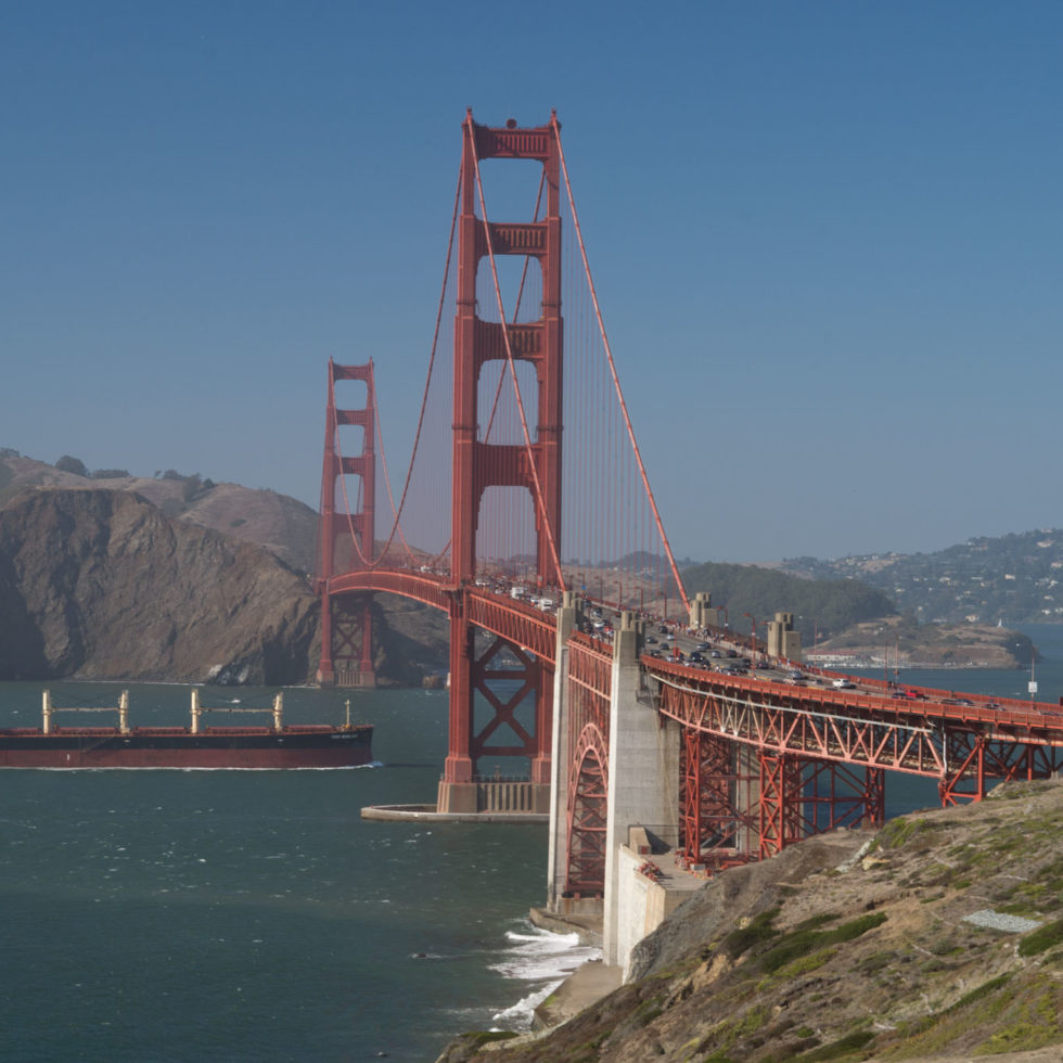Golden Gate with boat